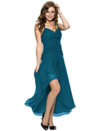 Astrapahl Damen Cocktail Kleid mit schönen Raffungen, Knielang
