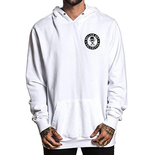Sullen Men's BOH Snow Long Sleeve Pullover Hoodie White L Heavyweight Long Sleeve Sweatshirt