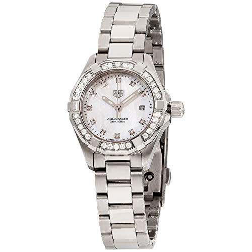 Tag Heuer Aquaracer Diamant weiß Mother of Pearl Zifferblatt Damen-Armbanduhr wbd1415. ba0741 (Tag Heuer Damenuhren)