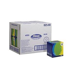 Kleenex 8825 Kosmetiktücher in Würfelbox, 3-lagige, 12 Kartons x 56 Tücher, weiß