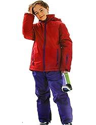 Combinaison de ski Pantalon de ski et veste de ski Pour garçon/fille Coupe-vent imperméable respirant Plusieurs couleurs/tailles