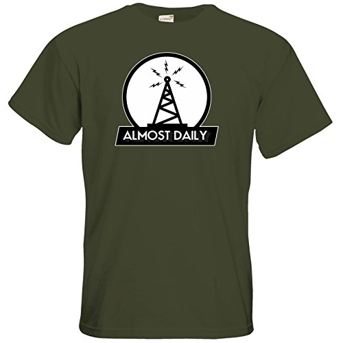 getshirts - Rocket Beans TV Official Merchandising - T-Shirt - Almost Daily - Funk Khaki