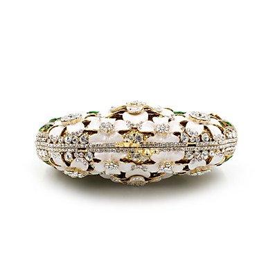 Frauen Metall formellen/Event/Party/Hochzeit Abend Tasche/Crystal Hand Tasche Diamanten Kupplung Juwel Geldbeutel Beige