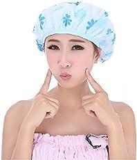 RiWEXA Set Of 3 Reusable Waterproof Elastic Eva Free-Size Bathroom Shower Caps - For Homes, Spas, Salons, Hair Treatment, Beauty Parlors Multi Color