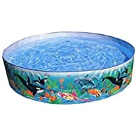 mQFIT Summer Special 4 feet Kids Swimming Pool, Bath tub, Water Pool for Kids (Multicolor)