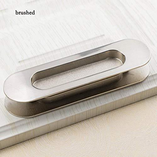LINCH 2 STÜCKE Versteckte Zinklegierung Einbau Pull Schiebetürgriffe Schlafzimmer Schrank Griff Möbel Hardware, gebürstet Splitter