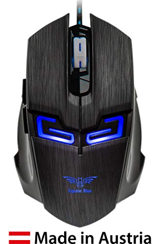 Equine Blue EB-BMP-07 Optical Gaming Maus Made in Austria LED 2000 DPI LIMITED EDITION