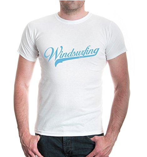 buXsbaum® T-Shirt Windsurfing Logo White-Skyblue