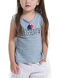 COMVIP - Camiseta - Ajustada - Básico - Sin mangas - para bebé niña