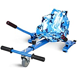 Ecoxtrem Asiento Kart - Hoverkart para Patinete Multicolor Azul