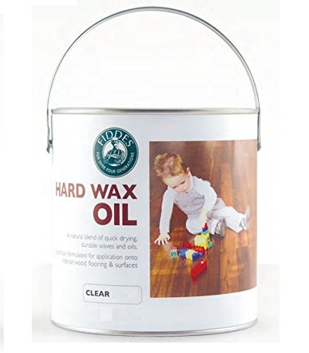Price comparison product image Fiddes- Hard Wax Oil - Clear Satin 1 ltr Tin -like Osmo
