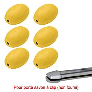 Savon jaune rotatif Provendi - Recharge à Clip (lot de 6)