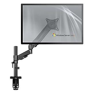 SIMBR Monitorhalterung, Monitor tischhalterung, Bildschirmhalterung, Schwenkbar Neigbar Höhenverstellbar Monitor Halterung für LCD LED Monitor von 15-27 Zoll, VESA 75x75, 100x100, Tragfähigkeit 8kg