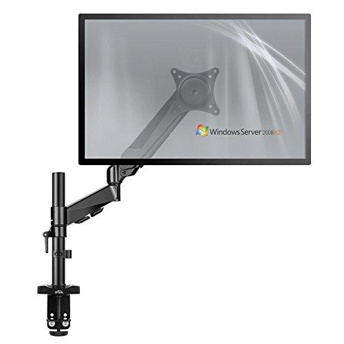 SIMBR Monitor Tischhalterung, Schwenkbare Neigbare Monitorhalterung mit Federarm für LCD Monitor Oder TV von 15 bis 27 Zoll, Max. Tragfähigkeit 8kg