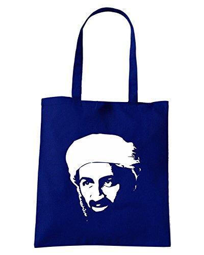 T-Shirtshock - Borsa Shopping FUN1130 custom osama bin laden dead rip t shirt Blu Navy
