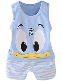 QinMM niños Bebes Animados Pato Camiseta + Pantalones Cortos Conjunto 79922e9d613