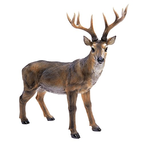 Design Toscano Buck mit dem großen Geweih Hirschstatue, Maße: 71 x 19 x 62 cm 4.5 kg
