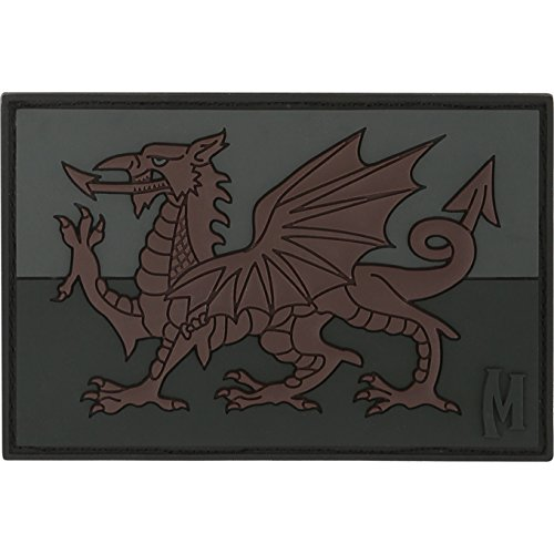 Maxpedition Welsh Flag (Stealth) Moral Patch