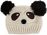 Cute Baby Girl Boy Winter Warm Panda Shape Knitted Wool Crochet Beanie Hat Cap(beige)