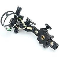 LYY Polo Largo Micro Ajustable Arco Compuesto Sight 7 Pin Bow Sight aleación de Aluminio para el Tiro con Arco Caza (Negro)