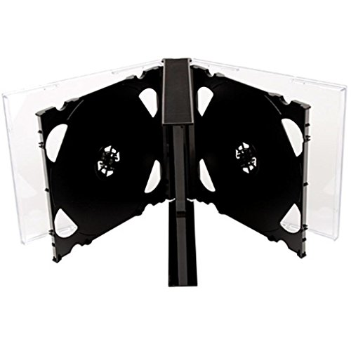 MasterStor (10Stück) Premium 6Wege Jewel Cases 25mm CD DVD für 6CDs mit schwarzem Tray