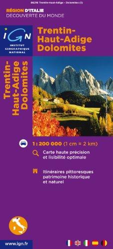 Descargar Libro 86215 Trentin/Haut-Adige/Dolomites 1/200.000 de IGN