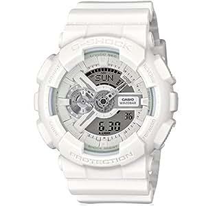 Casio - GA-110BC-7AER - G-Shock - Montre Homme - Quartz Analogique - Digital - Cadran LCD - Bracelet Résine Blanc