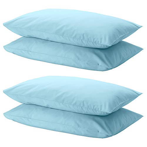 Ikea DVALA Kissenbezug, 100% Baumwolle, 50 x 80 cm, Hellblau, 4 Stück (Kissenbezüge Ikea)
