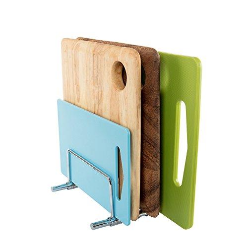 SbS Stainless Steel Adjustable Organiser Rack, Cutting Board Rack, Bake Ware Rack, 5 Racks included to create 4 Compartments