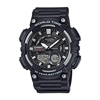 Casio Youth-Combination Analog-Digital Black Dial Men's Watch – AEQ-110W-1AVDF (AD207)