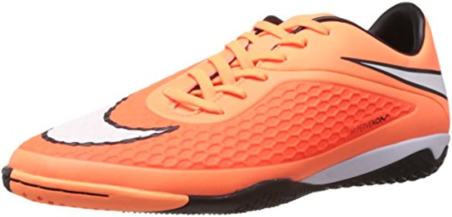 Nike Hypervenom Phelon IC Hallen Fussballschuhe hyper crimson-atomic orange-white-black - 43