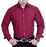 First Row Maroon Formal Shirt_38