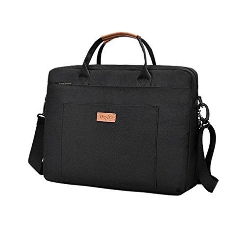 Vbiger Männer Frauen Laptoptasche Oxford Tuch Aktentasche Klassische Tablet Schultertasche Große Kapazität Business Handtasche (Lange Behandelt Handtaschen)