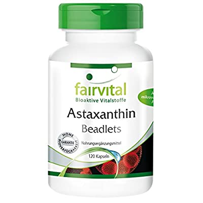 Fairvital - Astaxanthin Beadlets in Microcapsules - In Pure Form - 120 AstaPure® Beadlet Capsules A natural Astaxanthin complex in microcapsules