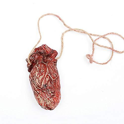 TOPFAY 1 PCS Hängen Herz Blutige Zubehör Blutige Horror Halloween-Geister Zubehör dekoriertes Haus Organ Anhänger