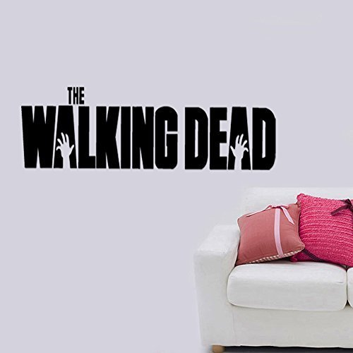 The Walking Dead Zombies Apocalypse Removable Wall Sticker Art Home Office Room Mural Decor Vehicle Car Truck Window Bumper Graphic Decal- (6 inch) / (15 cm) Wide MATTE BLACK Color by StickerLove
