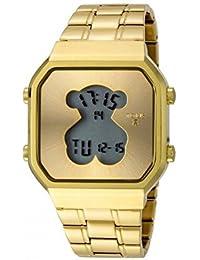 Reloj Tous D-Bear SQ de acero IP dorado con bolso verano Tous de regalo