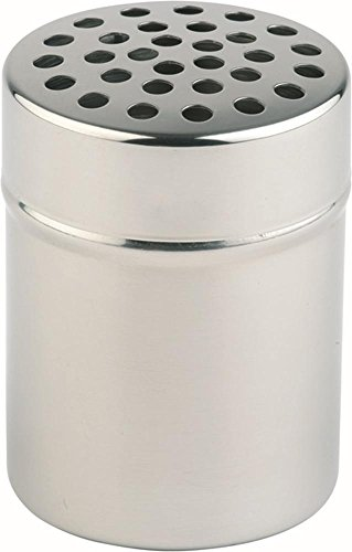 APS Allzweckgiesser/-streuer ca. Durchmesser 5,5cm, Höhe 7,5cm mit ca. Durchmesser 5mm Löcher Behälter aus Edelstahl