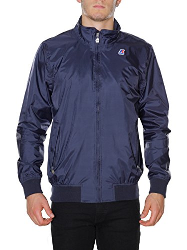 K-way JOHNNY JERSEY K007PE0 - Blue Depht K007PE0 (Windbreaker Full Nylon Zip)