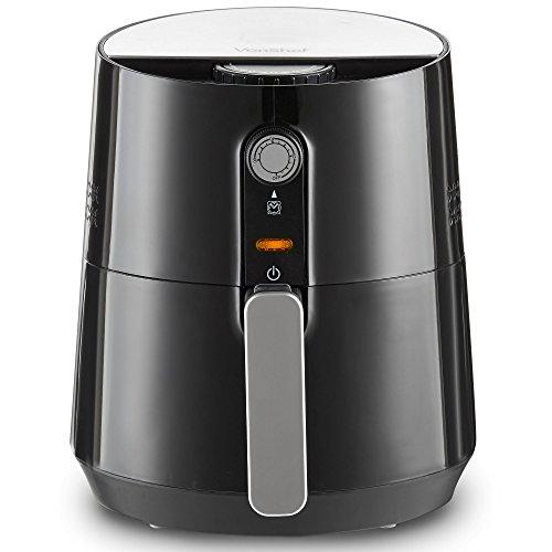 VonShef Airfryer Heißluftfritteuse – Die gesunde Alternative zum Frittieren – Flexible Temperaturregelung, 3,5L, 1300W, Schwarz - 6