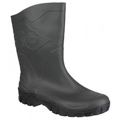 Dunlop wide-calf half-height Wellies.