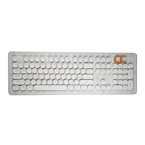 Tree-on-Life 104 Tasten Punk Keycap ABS Runde Vintage Keycap Transparent DIY Button Cap für 104 Tasten oder 87 Tasten mechanische Tastatur