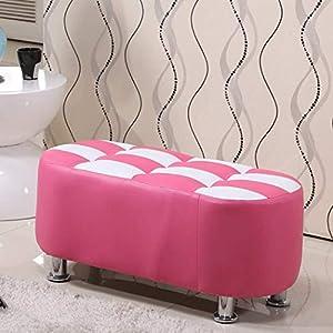 TQ Osmanischer Foot Rest Stool, Simple Seat Foothocker für Schlafzimmer Sofa, Fashion Comfortable Solid und Durable,pink_60x35x35CM von TQ auf Gartenmöbel von Du und Dein Garten