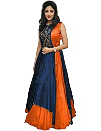 Dresses For Women New Arrival Western Party Wear Semistitched Dress Materials By Vastra Fashion