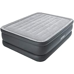 INTEX Queen Essential Matelas Gonflable Mixte Adulte, Gris, 152 cm x 203 cm x 51 cm