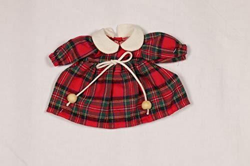 Sturm 2631-0 - Vestido de Cuadros para muñecas, Color Rojo