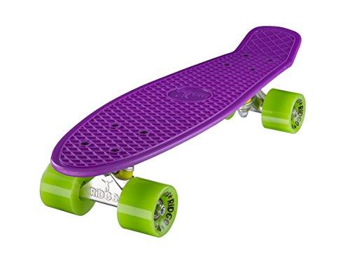 """Ridge 22"""" Mini Cruiser Board Retro Skateboard, komplett, in lila, völlig in der EU entworfen und hergestellt"""