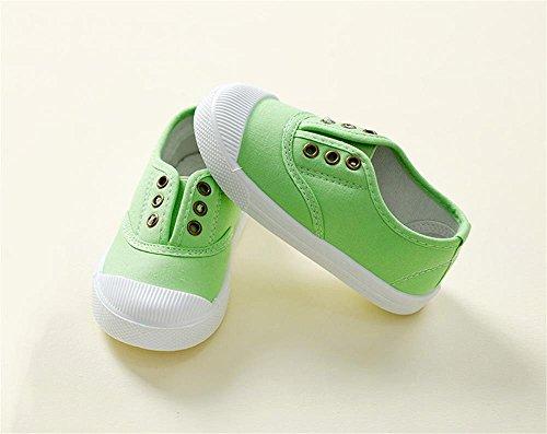 ALUK- Canvas Kinderschuhe Kleine Weiße Schuhe Baby Schuhe Studenten Schuhe ( farbe : Hellgrün , größe : 24 ) Hellgrün