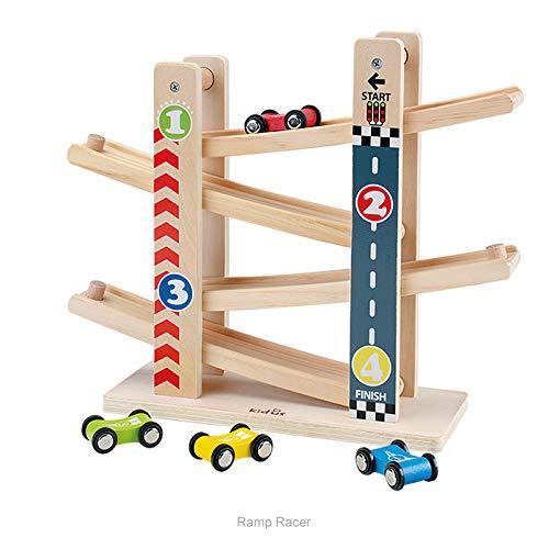 Pista per Auto in Legno,Il Primo Giocattolo da Pista in Legno per Bambini della Prima Educazione,Adatto a Ragazzi e Ragazze all'età di 1 -5Anni