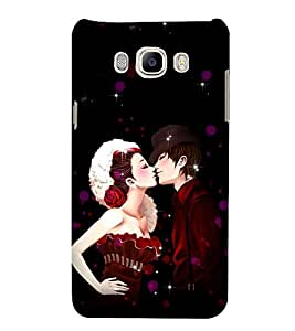 99Sublimation Kiss Of Prince and Princess 3D Hard Polycarbonate Back Case Cover for Samsung Galaxy J7 2016 (Duos, 10F, 10FN, 10M, 10H)